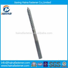 Aço inoxidável, parafuso de parafuso de dupla extremidade de aço carbono