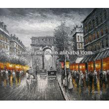 Impression populaire de rue de Paris