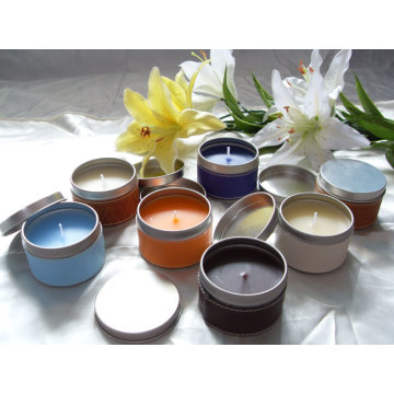Short Lead Time for Christmas Candles tin candle with different fragrance supply to South Korea Wholesale