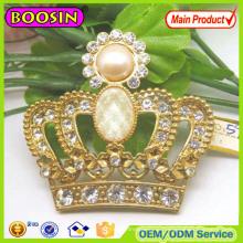 Европейская позолоченная брошь с королевской короной, модная брошь с кристаллами