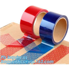 warranty void bag tape for bag sealing, Security Void Packaging Tape for custom use tape, void seals security tape tamper eviden