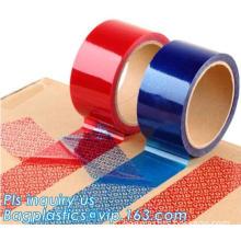 warranty void bag tape for bag sealing, Security Void Packaging Tape for custom use tape, void seals security tape tamper eviden