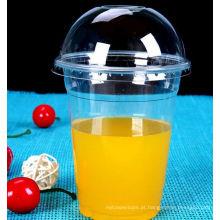 Copo frio do animal de estimação da bebida de Desaposable, copo do animal de estimação de 98mm para o suco, copo plástico
