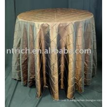 Housses de table, couverture de caméléon pintuck table, linge de table hôtel/banquet/mariage/soirée