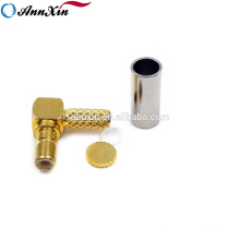 50 ohm Right Angle SSMB -JW1.5 RF Connector For RG58 LMR195