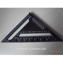 Алюминиевый металлический метрический квадрат Комплект в спецификациях Треугольная линейка 12 дюймов 45 градусов