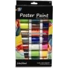 Нетоксический плакат краски 24 цветов(20мл) для детского рисунка