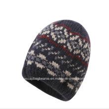 Классическая шерстяная жаккардовая трикотажная шапка