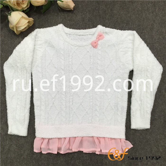 falbala bottom sweater for girl