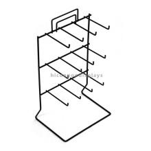 Durable Table Top 12 Haken Funktionelle 3-Layer Hängeteile Merchandising Metall Wire Display Rack