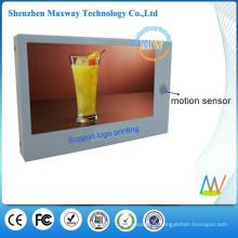 Reprodutor de publicidade em LCD 7 polegadas com sensor de movimento