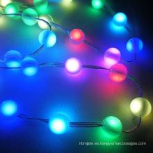 Mini esfera RGB LED Christmas Ball String