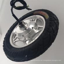 Motor eléctrico fácil del freno de tambor 36v 350w para el neumático del motor del eje de la motocicleta