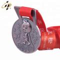 Shuanghua personnalisé 3d médaille de bronze en métal sportif en cours d'exécution