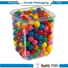 Clear Plastic Container for Sweety with Lid OEM