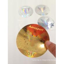 Etiquetas calientes de la etiqueta engomada del holograma de la venta 2016 para las ventanas de coche