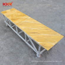Industrial construction translucent artificial marble stone acrylic solid surface sheet