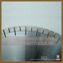 O diamante viu o disco do corte da lâmina para cortar a pedra calcária de mármore silenciosa