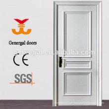 CE Branco lacado acabamento interior portas de madeira