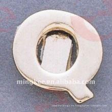 """Accesorios decorativos del bolso """"Q"""" de letra pequeña (O35-675A-Q)"""