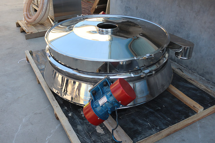 Central discharge check compact control vibrating screening sieving