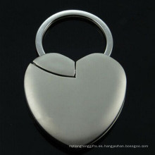 Láser promocional grabado marco de la foto forma del corazón cadena dominante (F1409)