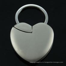 Рекламная лазерная гравировка фоторамки Heart Shape Key Chain (F1409)