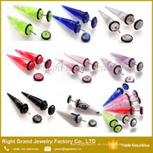 Fabrik zur Verfügung gestellt Customized Edelstahl UV Acryl Marmor grün Ohrring Bahre