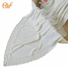 Fil acrylique de couverture de sommeil de bébé avec des modèles de Knit librement