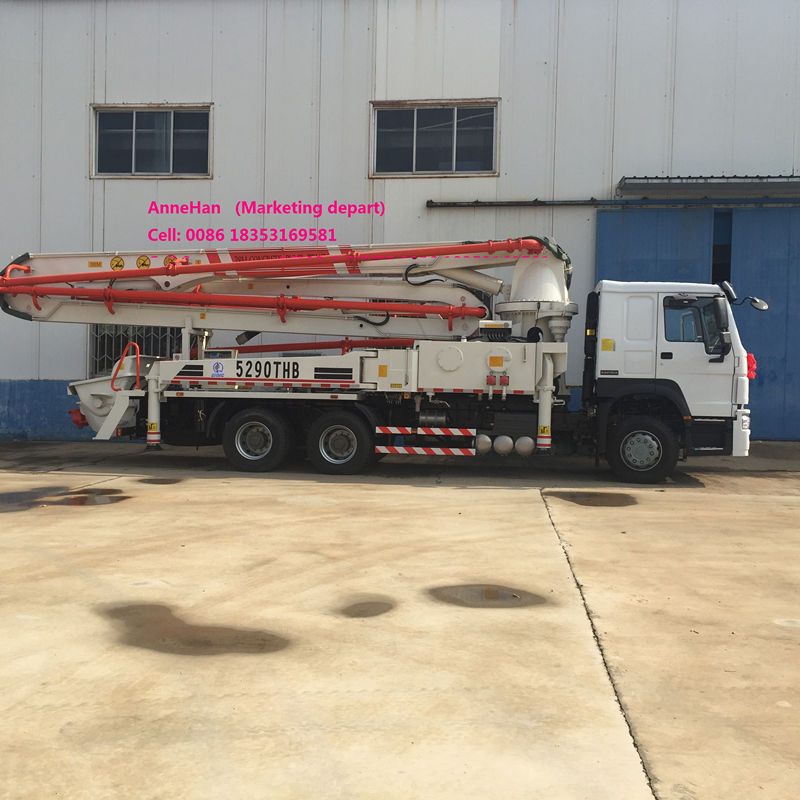 Truck Mounted Howo Concrete Pump Truck (7)