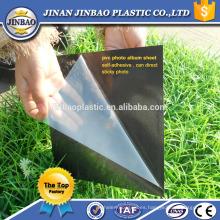 Hoja de álbum de fotos de PVC 0.3-2mm de espesor blanco negro amarillo papel