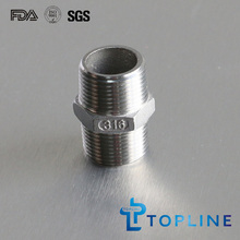 Aço inoxidável Hex Nipple (NPT / BSP)