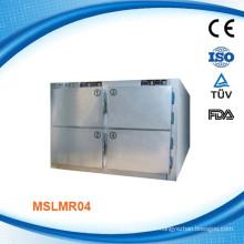 MSLMR04W Approvisionnement CE et Réfrigérateurs corporels supérieurs de corps mortuaires - Réfrigérateur pour corps à corps à quatre corps