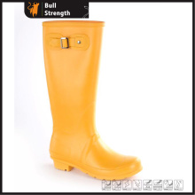 Orange Farbe Mode wasserdicht PVC-Stiefel mit Schnalle (SN5461)
