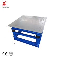 Bulk material handling concrete moulds vibrating table