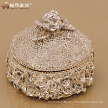 decoración de lujo de lujo de la boda de la caja de almacenaje del diseño de la alta calidad