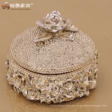 alta qualidade luxo design jóias caixa de armazenamento decoração do casamento