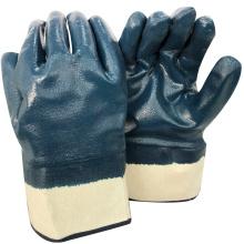 NMSAFETY anti huile légère utiliser dur travail gants de travail en nitrile bleu