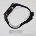 Черные силиконовые мужские часы