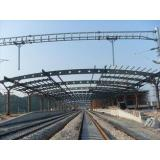 Railway Station Structural Metal Truss Buildings, Rust-proo