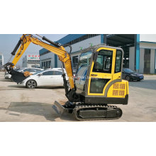Mini Excavator With Attachments Auger Hammer Grab