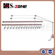 Contrôle de la main de Szone levage levier de séchage en aluminium moderne pour balcon de la maison