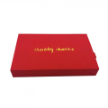 Red cardboard face care product box