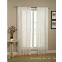 """Size 60 """"x84"""" 2 Piezas Sólido Blanco Sheer Window Cortinas / cortina / paneles / tratamiento"""
