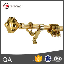 Longueur 5.8 m, Golden, Drapery Curtain Rod