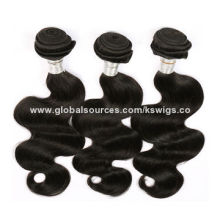 Indian Virgin Remy Hair Weaves with Full Cuticle Aligned, Natural Black Color, No SheddingNew