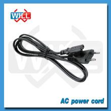 VDE CE 2 pines Euro Cable de alimentación con conector C7 C5