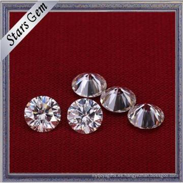 Forma Redonda Color Blanco 6.5mm Diamante Brillante de Moissanite de 1 quilate