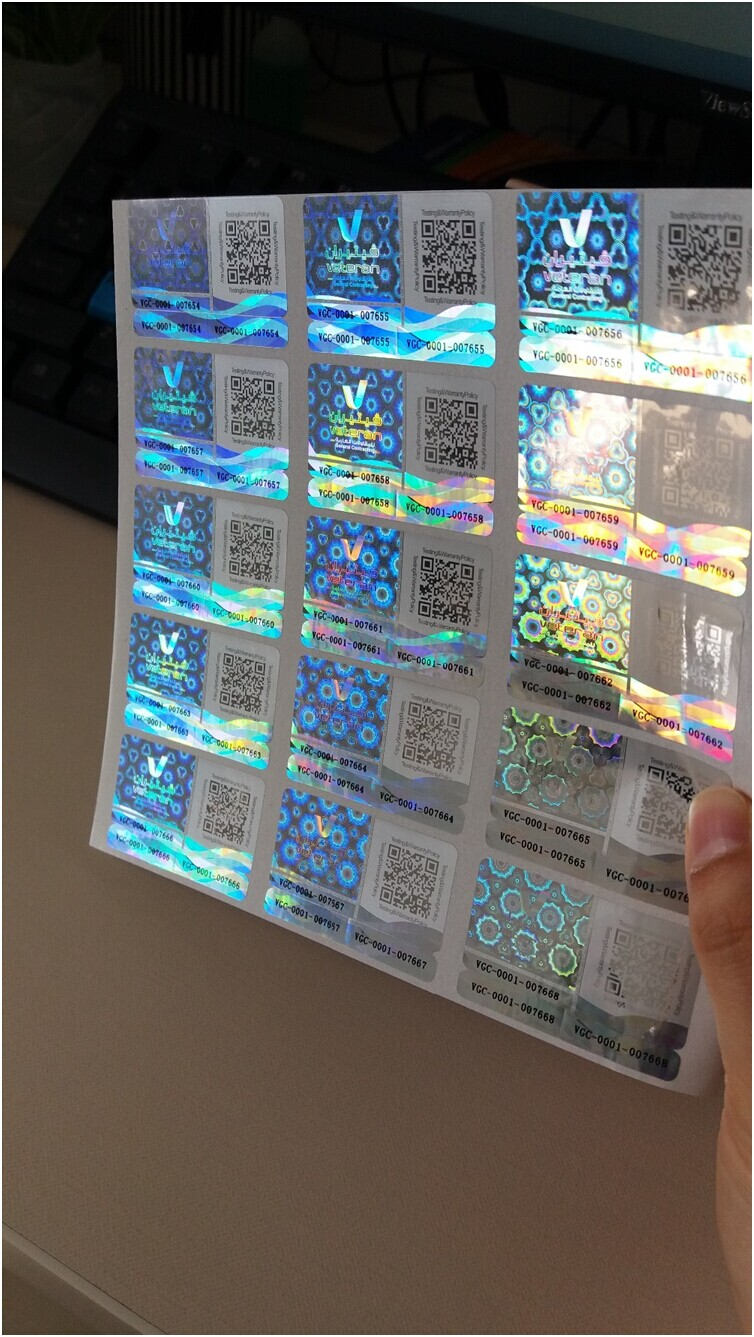 adhesive hologram sticker