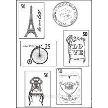 Paris clear stamps for scrapbook 2016 top valentine's day souvenirs for wedding